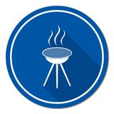 The barbecue icon. Barbecue grill icon. Vector illustration Royalty Free Stock Image