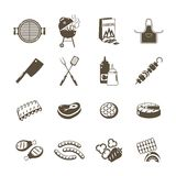 Barbecue And Grill Icons Black Set Stock Photos