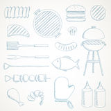 Barbecue Grill Icons Stock Photos