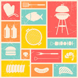 Barbecue Grill Icons Royalty Free Stock Photo