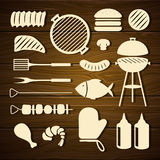 Barbecue Grill Icons Royalty Free Stock Photography