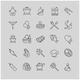 Barbecue and grill icons set. For your design Stock Photography