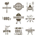 Barbecue And Grill Labels Stock Photos