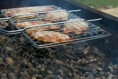 Barbecue Grill & live coals Stock Photography