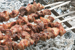Barbecue grill meat. Royalty Free Stock Photo