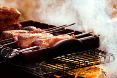 Barbecue on he grill Royalty Free Stock Photos