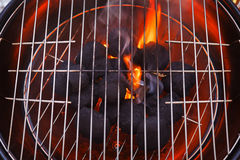Barbecue grill. Ready and waiting for food Royalty Free Stock Photos