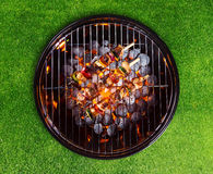 Barbecue grill with skewers Royalty Free Stock Photography