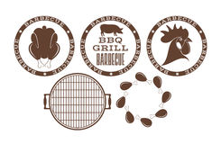 Barbecue grill. Stamp Royalty Free Stock Images
