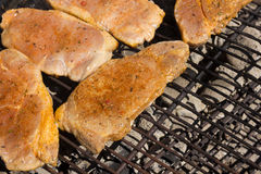 Barbecue Grill Steaks,  BBQ. Stock Photography