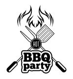 Barbecue grill. Vector illustration on white background stock illustration