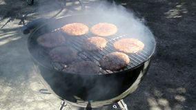 Barbecue grill video stock video