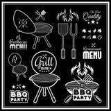 barbecue grilla odizolowywającego Obraz Royalty Free
