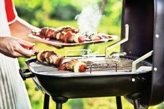 barbecue grilla odizolowywającego Fotografia Royalty Free