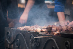 barbecue grilla odizolowywającego Zdjęcia Royalty Free