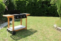 Barbecue grilled in the garden royalty free stock images
