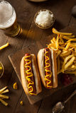 Barbecue Grilled Hot Dog Royalty Free Stock Images