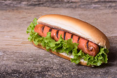 Barbecue Grilled Hot Dog Royalty Free Stock Image