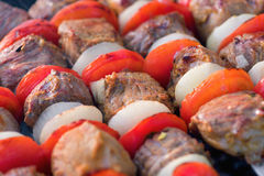 Barbecue with grilled meat Stock Image