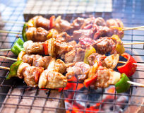 Barbecue on a grilling pan.  Stock Photo