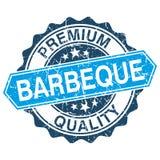 Barbecue grungy zegel vector illustratie