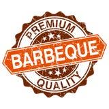 Barbecue grungy zegel op witte achtergrond vector illustratie