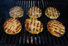 Barbecue Hamburgers Royalty Free Stock Photography