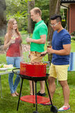 Barbecue during holidays Stock Photo