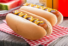 Barbecue Hot Dogs Royalty Free Stock Photo