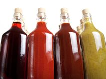 Barbecue hot sauces Royalty Free Stock Image