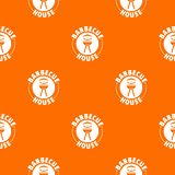 Barbecue house pattern vector orange. For any web design best vector illustration