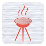 The barbecue icon. Barbecue grill icon. Vector illustration Stock Image
