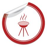 The barbecue icon. Barbecue grill icon. Vector illustration Stock Images