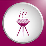 The barbecue icon Stock Images
