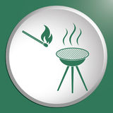 The barbecue icon Royalty Free Stock Images