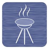 The barbecue icon. Barbecue grill icon. Vector illustration Royalty Free Stock Photography