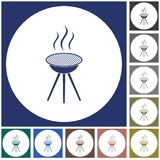 The barbecue icon. Barbecue grill icon. Vector illustration Stock Photography