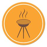 The barbecue icon. Barbecue grill icon. Vector illustration Royalty Free Stock Images