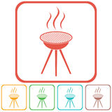 The barbecue icon Royalty Free Stock Photos