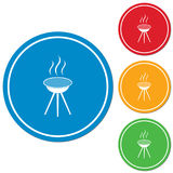 The barbecue icon Royalty Free Stock Photography
