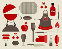 Barbecue icons Royalty Free Stock Image