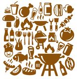 Barbecue icons Stock Image