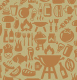 Barbecue icons Royalty Free Stock Photo