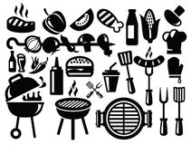 Barbecue icons Stock Photos