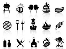 Barbecue icons Royalty Free Stock Photos