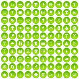 100 barbecue icons set green. 100 barbecue icons set in green circle isolated on white vectr illustration vector illustration