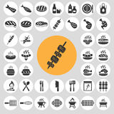 Barbecue icons set. Stock Image