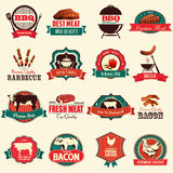 Barbecue icons Royalty Free Stock Photography