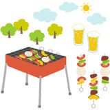 Barbecue. Illustration collection of things about barbecue with cute touch vector illustration