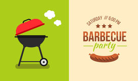Barbecue illustration concept Royalty Free Stock Photography
